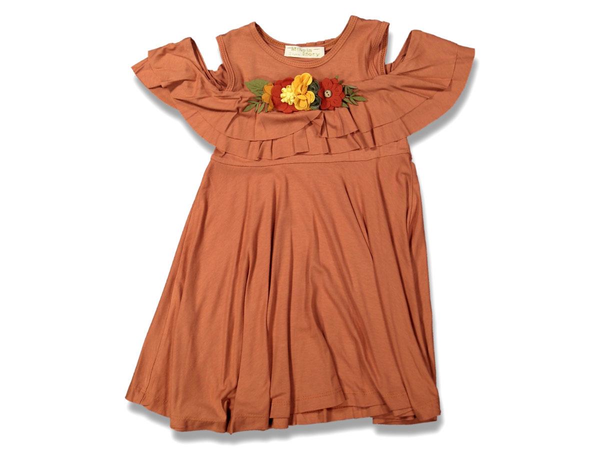 Платье на девочку оранжевый 5/8 лет 99639